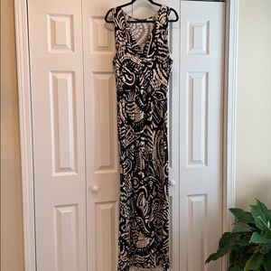 Spense Black/Cream Maxi Dress Size XL
